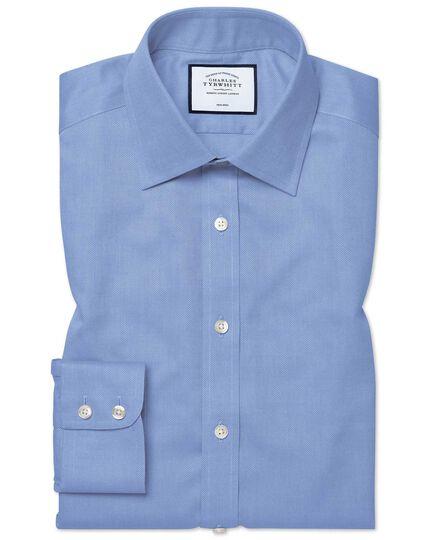 Slim fit non iron royal panama blue shirt charles tyrwhitt for Slim fit non iron shirts