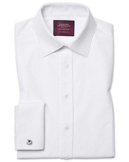 Slim fit luxury marcella white tuxedo shirt charles tyrwhitt for Extra slim tuxedo shirt