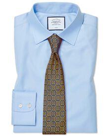 Slim fit non-iron twill sky blue shirt